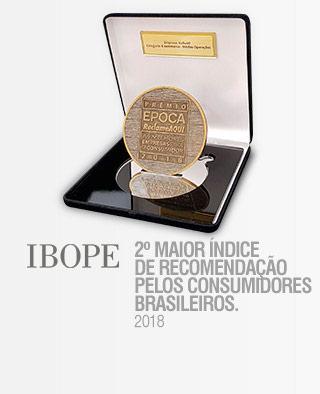 AS MELHORES EMPRESAS PARA O CONSUMIDOR 2018 - 3º lugar prêmio época