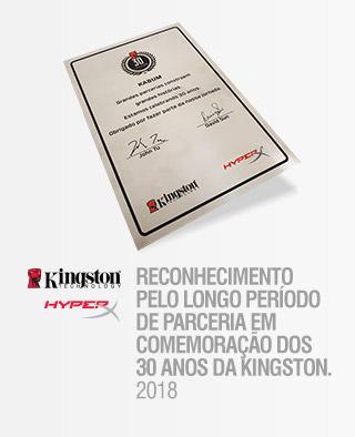 UMA PARCERIA DE LONGA JORNADA OBRIGADO KINGSTON! 2018 - 30 ANOS KINGSTON