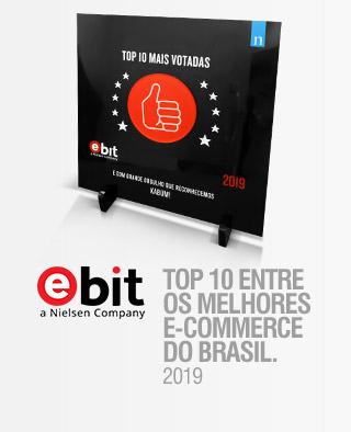 TOP 10 ENTRE OS MELHORES E-COMMERCEDO BRASIL. - Ebit 2019