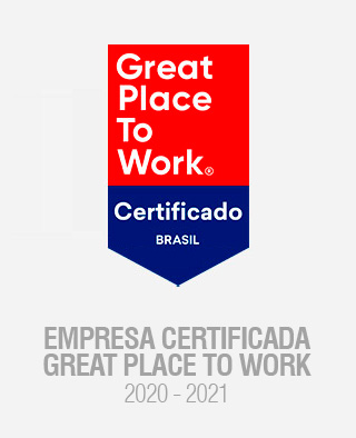 GPTW - Empresa certificada Great Place to Work 2020.
